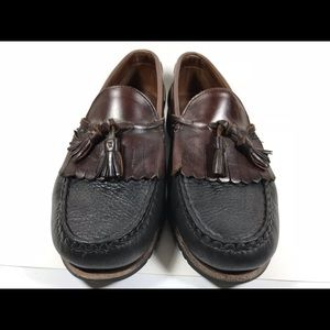 Allen Edmonds Shoes - Allen Edmonds Nashua Black Kiltie Loafers Men's 10